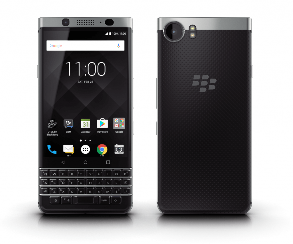 BlackBerry KEYone発表 Android 7.1採用、QWERTYキー搭載で4月に発売